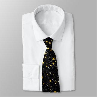 Cravates Parties scintillantes Stars3 - Noir d'or