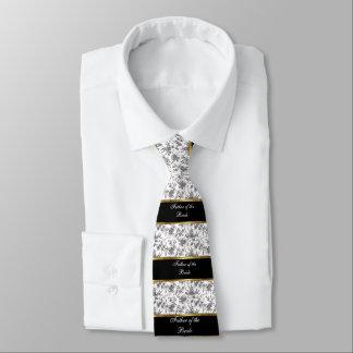 Cravates Père de la jeune mariée, du noir et de l'or