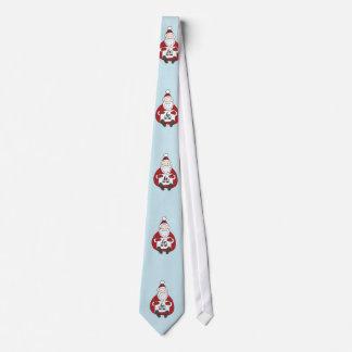 Cravates Père Noël mignon dessinant Noël