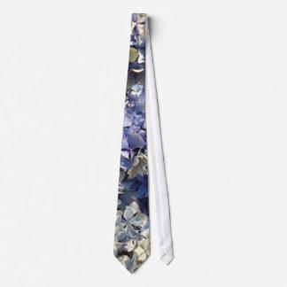 Cravates Pétales bleus d'hortensia de lavande