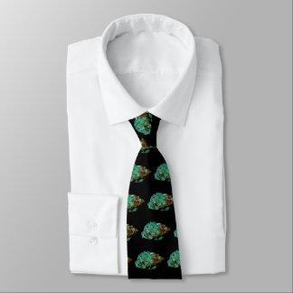 Cravates Photo minérale verte de malachite sur l'arrière -