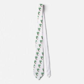 Cravates Pingouin avec l'illustration verte de patinage de