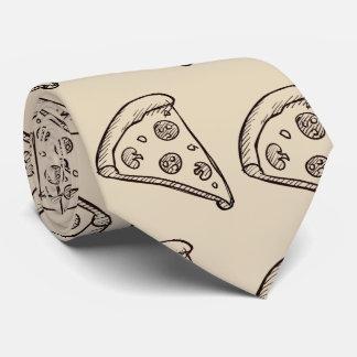 Cravates PizzaTie bronzage