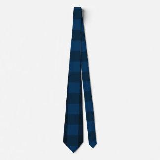 Cravates Plaid noir et bleu beau