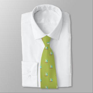 Cravates Planches de surf minuscules en vert de motif de