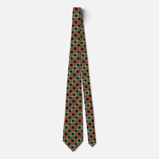 Cravates Point tribal de satin en verre souillé de Nouveau
