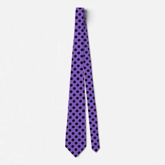 Cravates Pois noir sur la lavande
