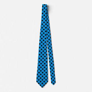 Cravates Pois noir sur le bleu de ciel