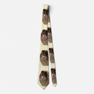 Cravates Pomeranian (noir et Tan)