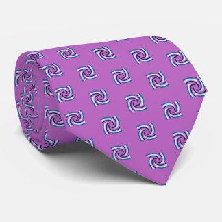 Cravates Pourpre blanc de motif de noir bleu