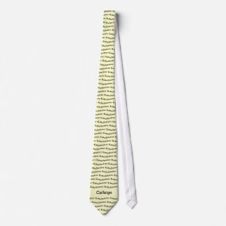 Cravates Radio et indicatif d'appel amateurs jaunes