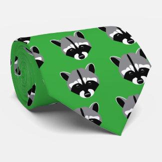 Cravates Raton laveur avec les yeux tristes