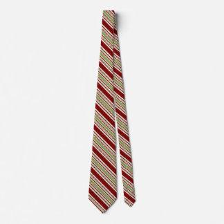 Cravates rayées de Noël pour les hommes rouges et