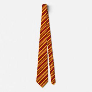 Cravates rayées pour le cramoisi et l'or des