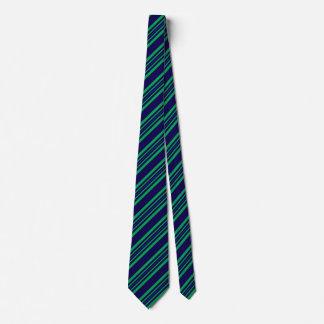 Cravates rayées pour le vert et le bleu de Kelly