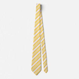Cravates rayées pour les hommes blancs et jaunes