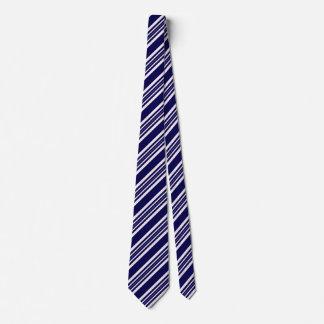 Cravates rayées pour les hommes bleus et blancs