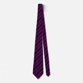 Cravates rayées pour les hommes bleus et rouge