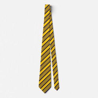 Cravates rayées pour les hommes or et marine