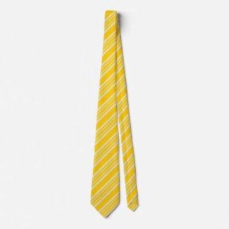 Cravates rayées pour l'or et le jaune des hommes