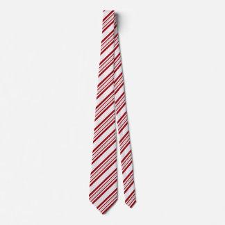 Cravates rayées pour Noël de sucre de canne des