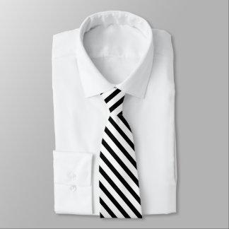 Cravates Rayure blanche noire de smoking