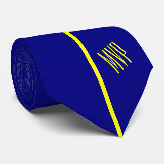 Cravates Rayure jaune verticale simple du monogramme | sur