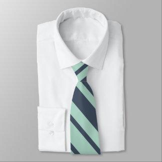 Cravates Rayures bleues et légères profondes terreuses de