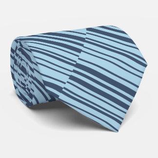 Cravates Rayures bleues terreuses