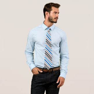 Cravates Rayures de gris de noir bleu