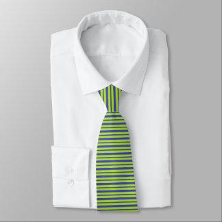 Cravates Rayures épaisses et minces de bleu et de vert de