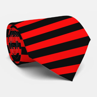 Cravates rayures noir et rouge