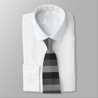 Cravates rayures noires et grises audacieuses
