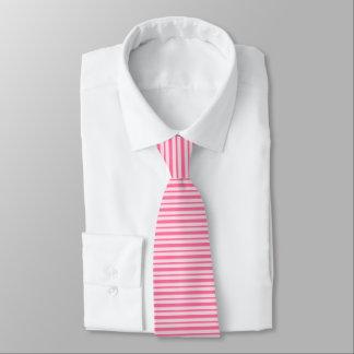 Cravates Rayures roses épaisses et minces
