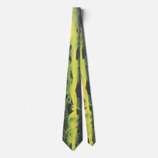 Cravates Résumé dans le noir et le jaune