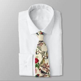Cravates Rétro mesquin victorien d'album à oiseaux et à
