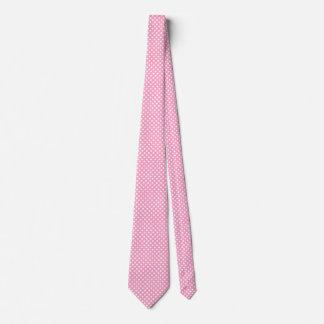 Cravates Rose contemporain d'oeillet de pois