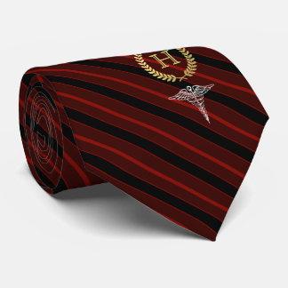 Cravates Rouge de monogramme encadré par professionnel