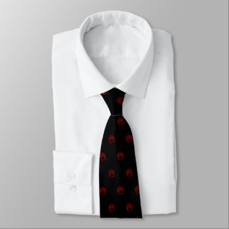 Cravates Rouge de patte d'ours (noir)