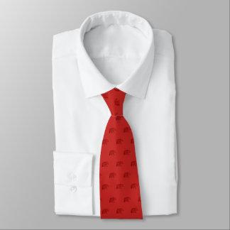 Cravates Rouge d'esprit d'ours