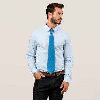 Cravates Satin bleu au néon de griffonnage de rockabilly