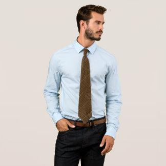 Cravates Satin de motif de contrôle de mouche à chocolat de