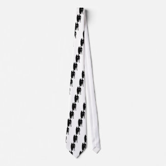 Cravates Silhouette de garçon de surfer
