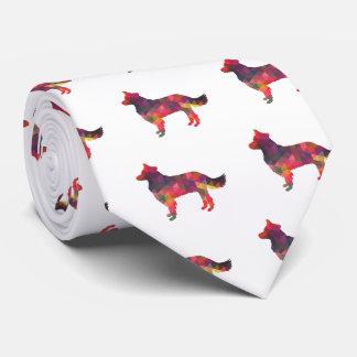 Cravates Silhouette géométrique de border collie multi