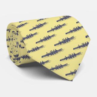 Cravates Sports aquatiques bleus d'équipe d'équipage de