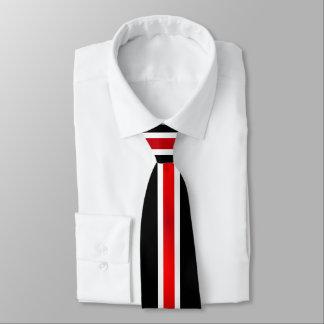 Cravates Stripes2 blanc et noir rouge
