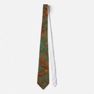 Cravates Texture de cuivre de roche de turquoise de patine
