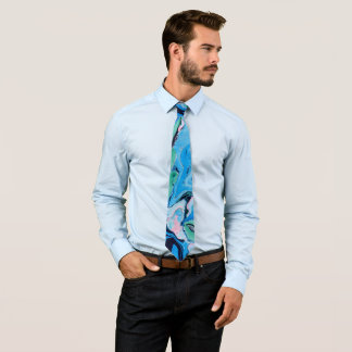Cravates Texture en pierre de marbre multicolore