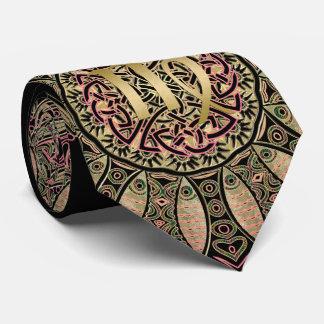 Cravates Tons de la terre de mandala de Vierge de signe de