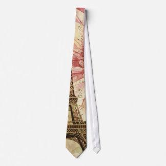Cravates Tour Eiffel chic de Bohème floral vintage de Paris